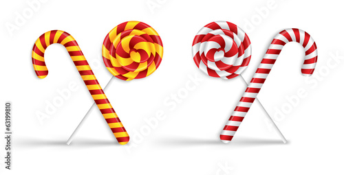 Lollipops and candy canes