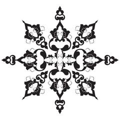 black oriental ottoman design twenty-nine