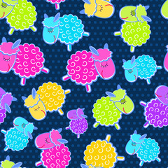 Cute Sheeps Seamless Pattern