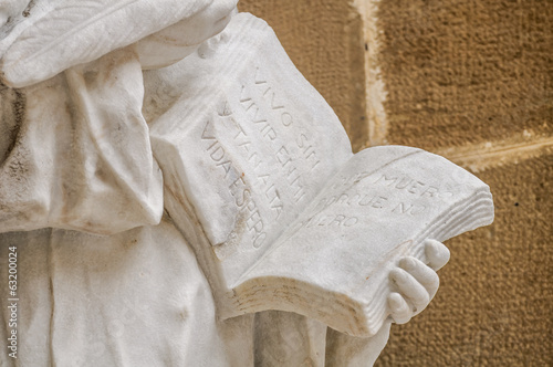 St Teresa of Avila statue detail, Monstserrat, Catalonia, Spain