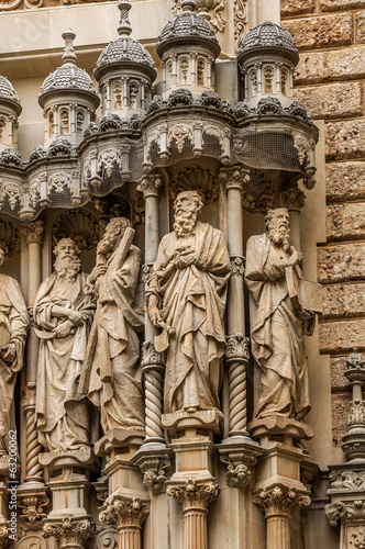 Architectural Detail of Montserrat monastery