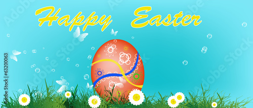 Holiday. Happy Easter.Vector