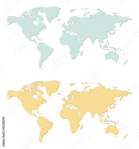 An illustration of two sandpaper earth maps.