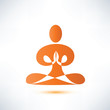yoga, meditation vector symbol