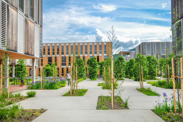 Modern educational/office building on campus