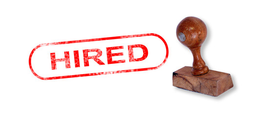 HIRED Rubber Stamp