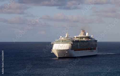 Cruise ship in open sea