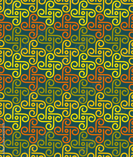 Various Colors pinwheel Pattern. Korean traditional Pattern Desi