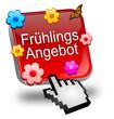 Obrazy na płótnie, fototapety, zdjęcia, fotoobrazy drukowane : Frühlings Angebot Button mit Cursor
