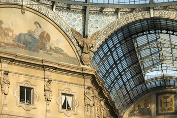 Galleria ironworks and glass roof, Milan