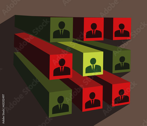 selection procedure business vector illustration