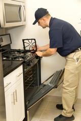 Handyman repair stove