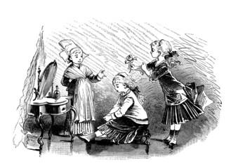 Little Girls - Trio - end 19th century