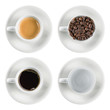 set coffee cup isolated