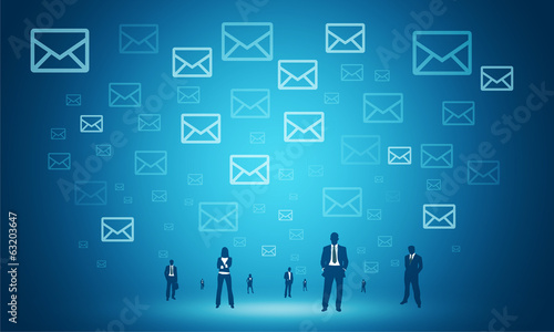 social mail  business connection ba background