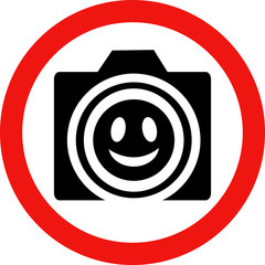 Круглый векторный знак с изображением камеры