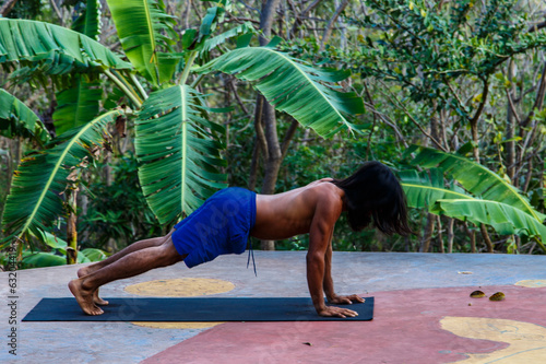 yoga in jungle