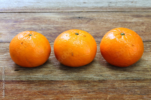 Tangerine, Mandarin honey orange on wood table