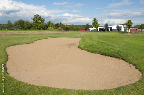 A Bunker at a Golf Course in Europe