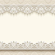 Vintage background with cutout paper lace borders