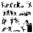 Постер, плакат: Zombie Undead Attack Apocalypse Survival Defense Outbreak