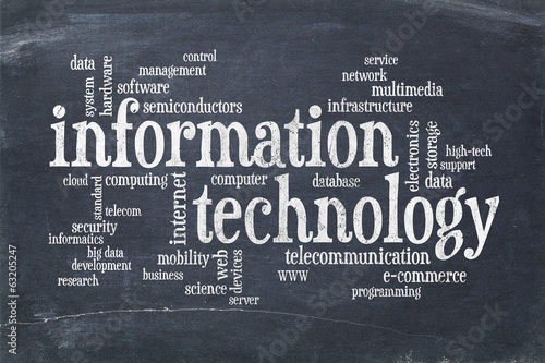 information technology word cloud