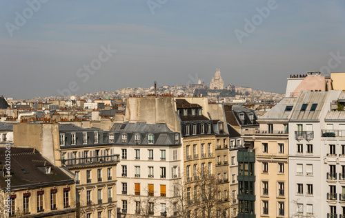Paris rooftops and view of Montmartre