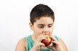 The Boy Is Eating Apple