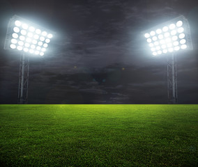 night-lit stadium