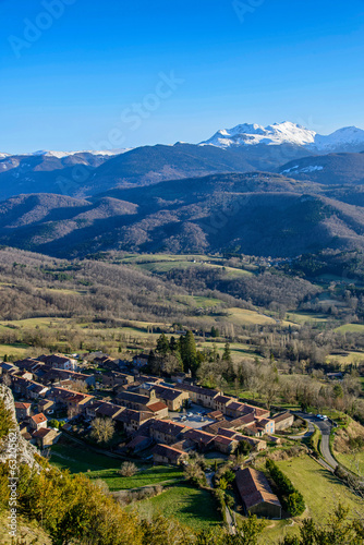 canvas print picture Le village de roquefixade