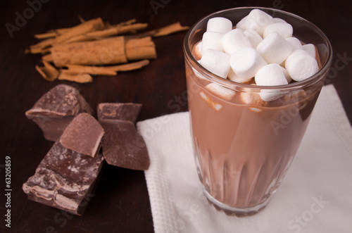 marshmallows on top a cup of hot cocoa