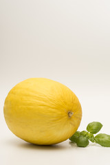 Honeydew melon isolated on a white background