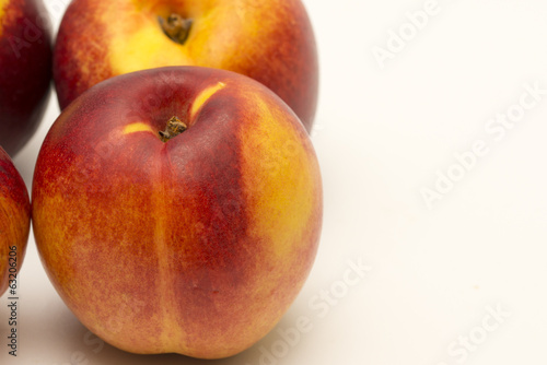 Nectarines isolated on a white background