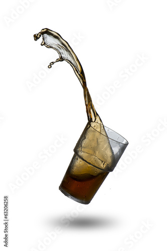 Cola Splash from glass