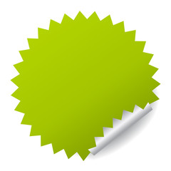 Green vector sticker