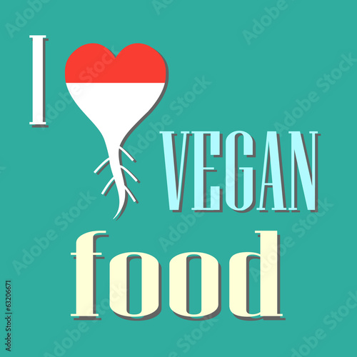 I like vegan food