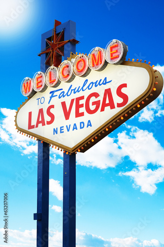Foto op Canvas Las Vegas Welcome to Fabulous Las Vegas Sign Nevada
