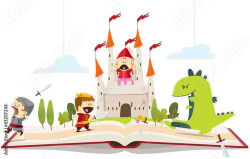 Obraz na płótnie Księga baśni