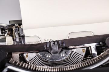 paper in typewriter