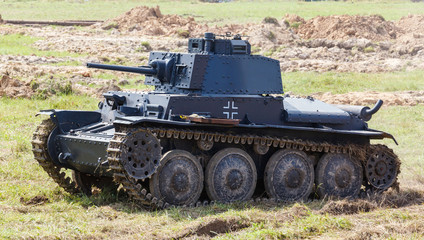 WW2 German Panzer 38 (t) light tank