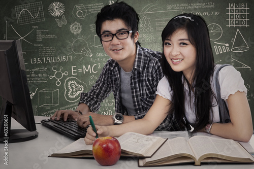 Asian Students Studying in Class