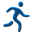 Blue running man icon
