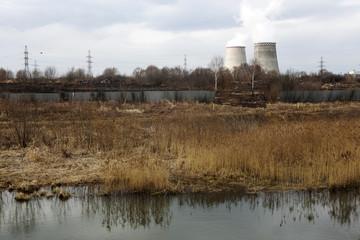 Electrical Power Plant near village Tainiskoye  Mytishchi.