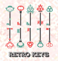 Vector Set: Retro Keys