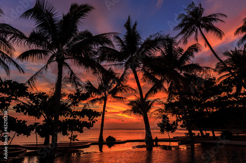 Dramatic Sunset in Thailand, Samui