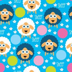 sheep lamb polka dots pattern vector illustration
