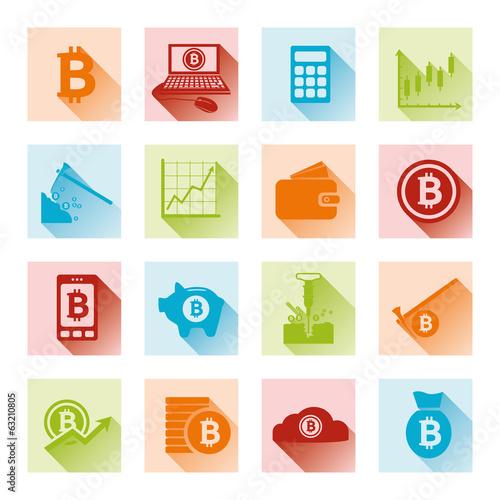 bitcoin flat icons