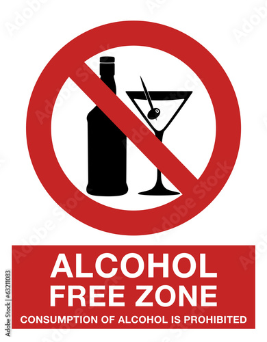 Alcohol free zone