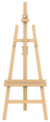Easel.Front view of an Easel.