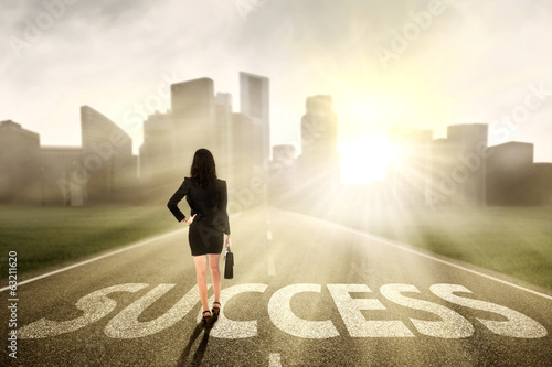 Businesswoman finding the success way
